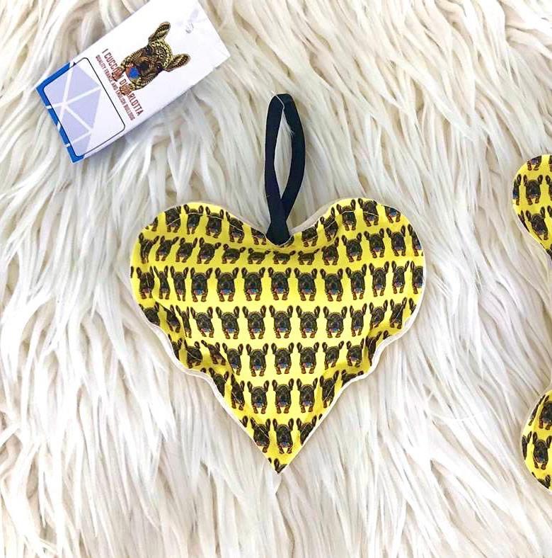I Cuccioli di Carlotta Minibag - Heart beige Fantasia gialla